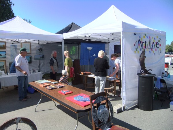 First Nation's art tent